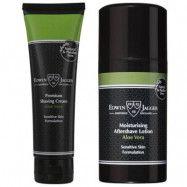Edwin Jagger Shaving Cream + Aftershave Lotion Aloe Vera, Edwin Jagger