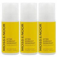 Moss & Noor After Workout Deodorant Fresh Grapefruit 3 pack