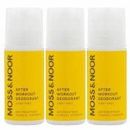 Moss & Noor After Workout Deodorant Light Mint 3 pack