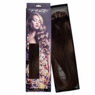 Poze Hairextensions Poze Clip & Go Löshår Miss Volume 55cm 7st 2B Dark