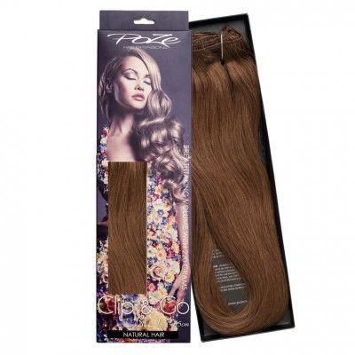 Poze Hairextensions Poze Clip & Go Löshår Miss Volume 55cm 7st 6B Love