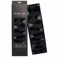 Poze Hairextensions Poze Clip & Go Standard Wavy 55cm 1N Midnight Blac