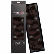 Poze Hairextensions Poze Clip & Go Standard Wavy 55cm 2B Dark Espresso