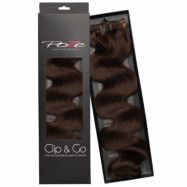 Poze Hairextensions Poze Clip & Go Standard Wavy 55cm 4B Chocolate Bro