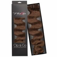 Poze Hairextensions Poze Clip & Go Standard Wavy 55cm 6B Lovely Brown