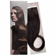 Poze Hairextensions Poze Tape On Extensions 1B Midnight Brown 4 cm/bit