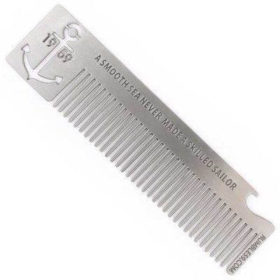 Rumble 59 Stainless Steel Hair Comb, Anchor, Rumble 59