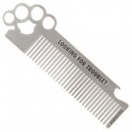 Rumble 59 Stainless Steel Hair Comb, Brass Knuckles, Rumble 59