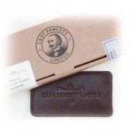 Leather Case Folding Pocket Moustache Comb