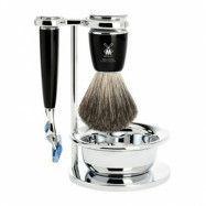 Mühle Rytmo Shaving Set Fusion + Brush + Bowl, Noir
