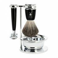Mühle Rytmo Shaving Set Safety Razor + Shaving Brush + Bowl, Noir
