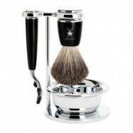 Mühle Rytmo Shaving Set Mach3 + Brush + Bowl, Noir