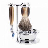Muhle Vivo Shaving Set Fusion Razor + Brush + Bowl, Corne