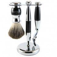 Edwin Jagger 3pc Diffusion Ebony Shaving Set Mach3, Edwin Jagger