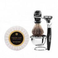 Benjamin Barber Duke SR 4-delars Rakset Ebony med Black Oak Shaving Soap