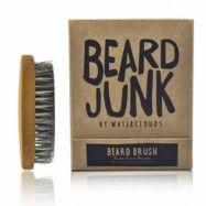 Handgjord skäggborste med naturliga borst