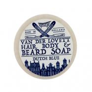 Van Der Lovett Hair, Body & Beard Shampoo Soap Bar Dutch Blue (60 g)