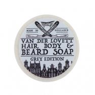 Van Der Lovett Hair, Body & Beard Shampoo Soap Bar Grey edition (60 g)