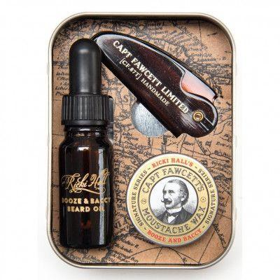 Captain Fawcett Parfum, Wax & Beard Oil Gift Set Skäggbutiken