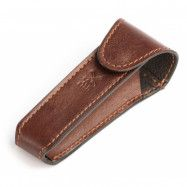 Handmade Leather Razor Pouch Brown